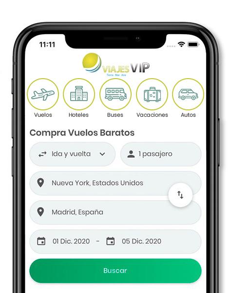 App Viajes VIP